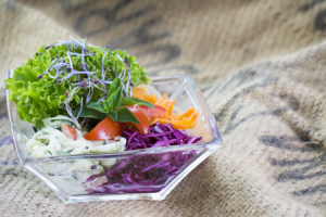 Vogtländischer Salatteller in Alberts Park Restaurant in Bad Elster